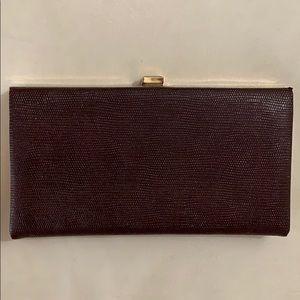 Vintage Shirl Miller Burgandy Clutch Purse